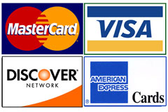 Cash & All Major Credit Cards Accepted