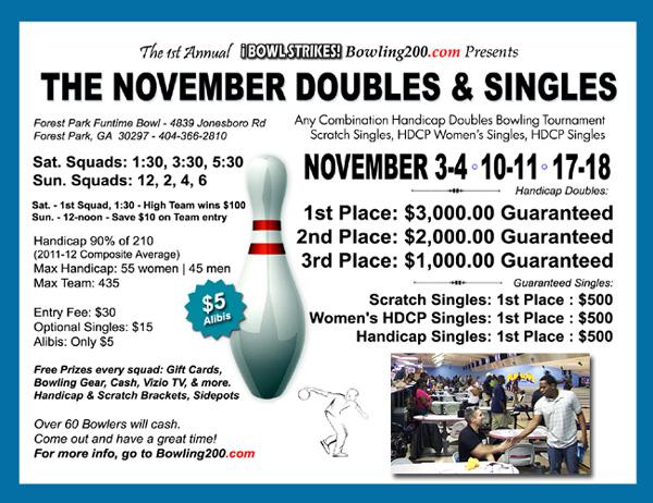 November Doubles & Singles Tournament