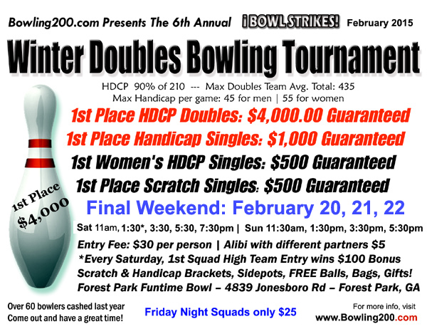 2015 Bowling200.com Winter Doubles Tournament